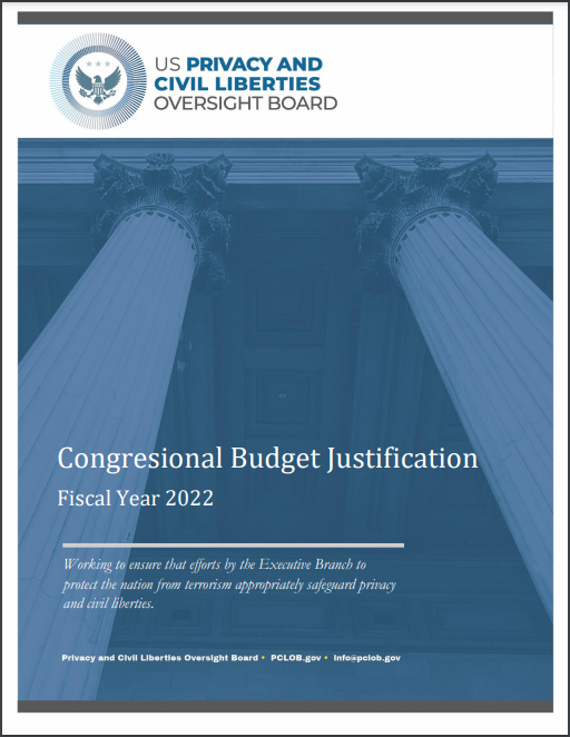 download PCLOB FY 2022 Congressional Budget Justification