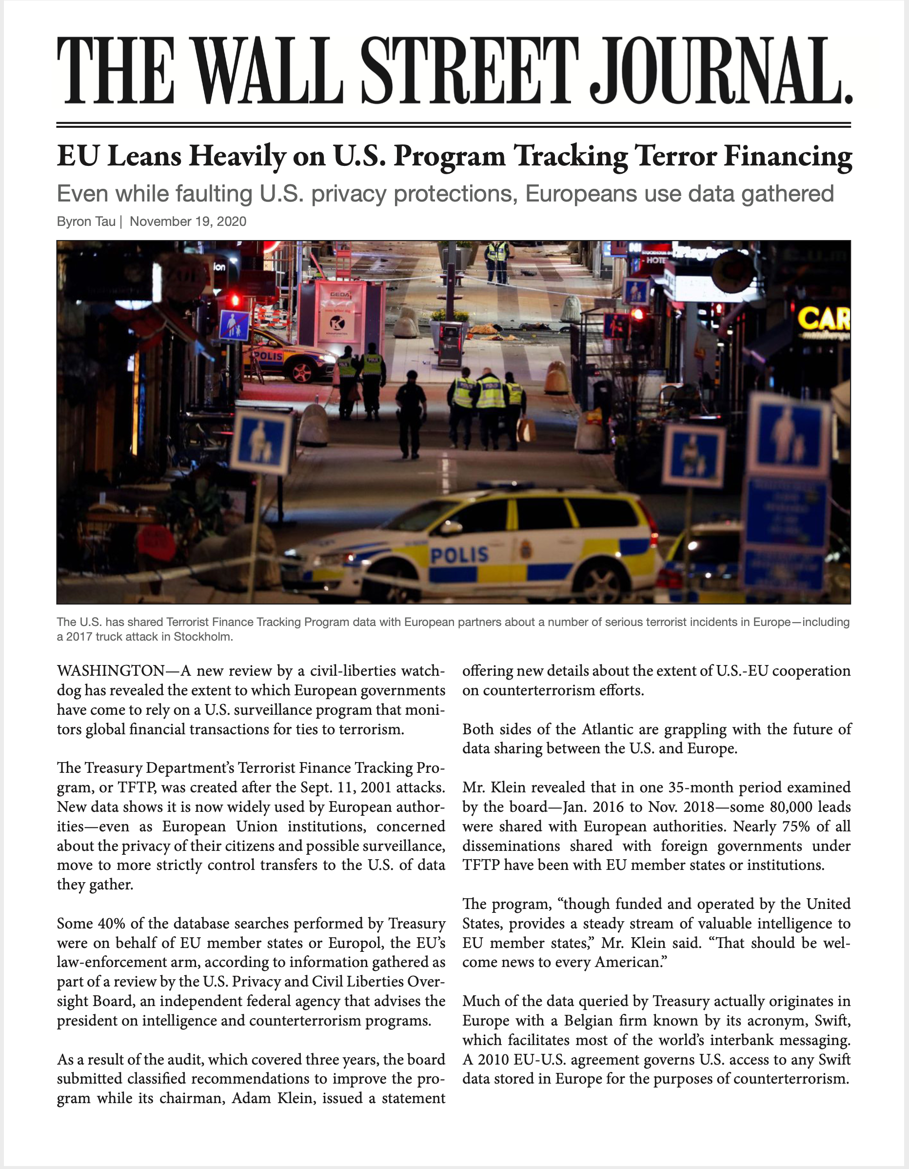 https://www.wsj.com/articles/eu-leans-heavily-on-u-s-program-tracking-terror-financing-11605794404?mod=searchresults_pos1&page=1