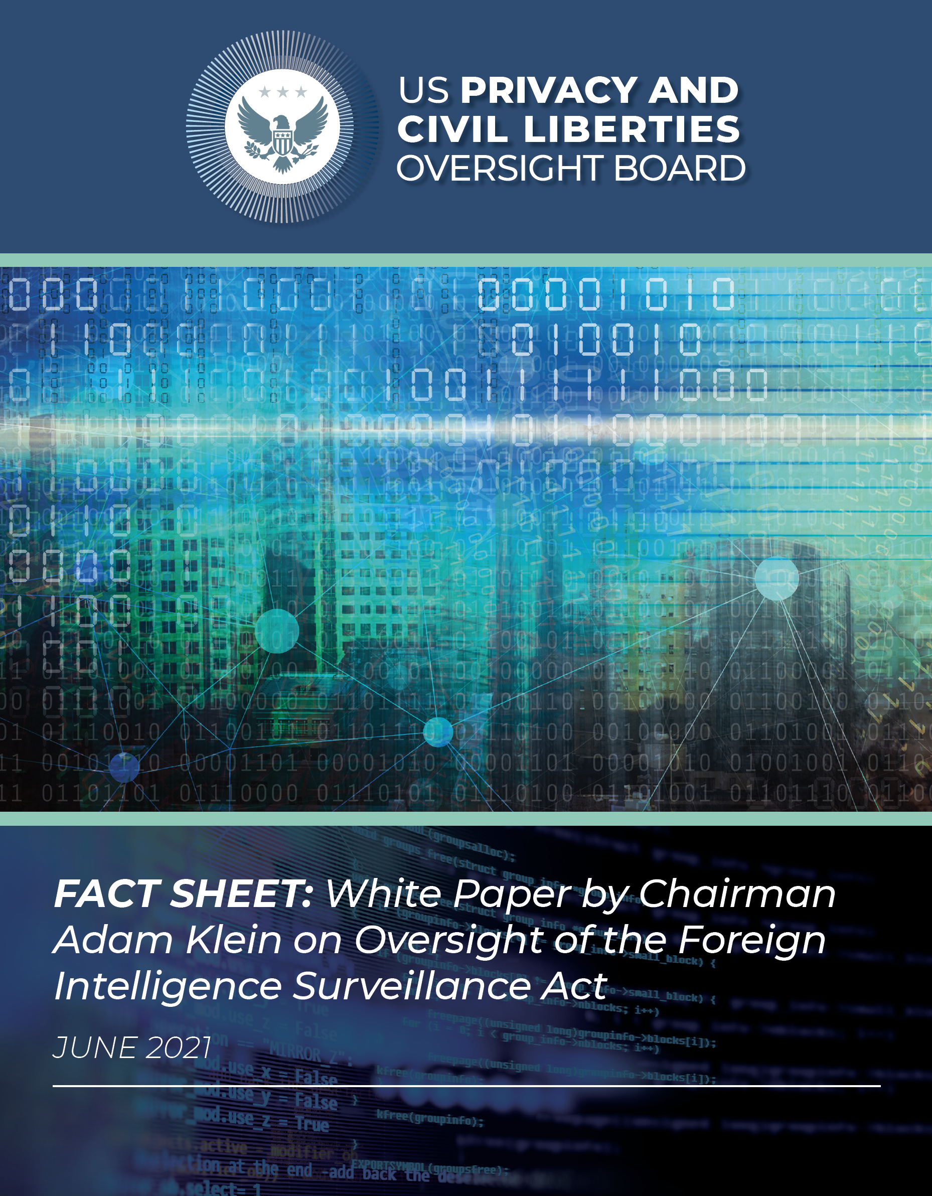 Chairman's FISA White Paper - Chairman's White Paper: Oversight of the Foreign Intelligence Surveillance Act