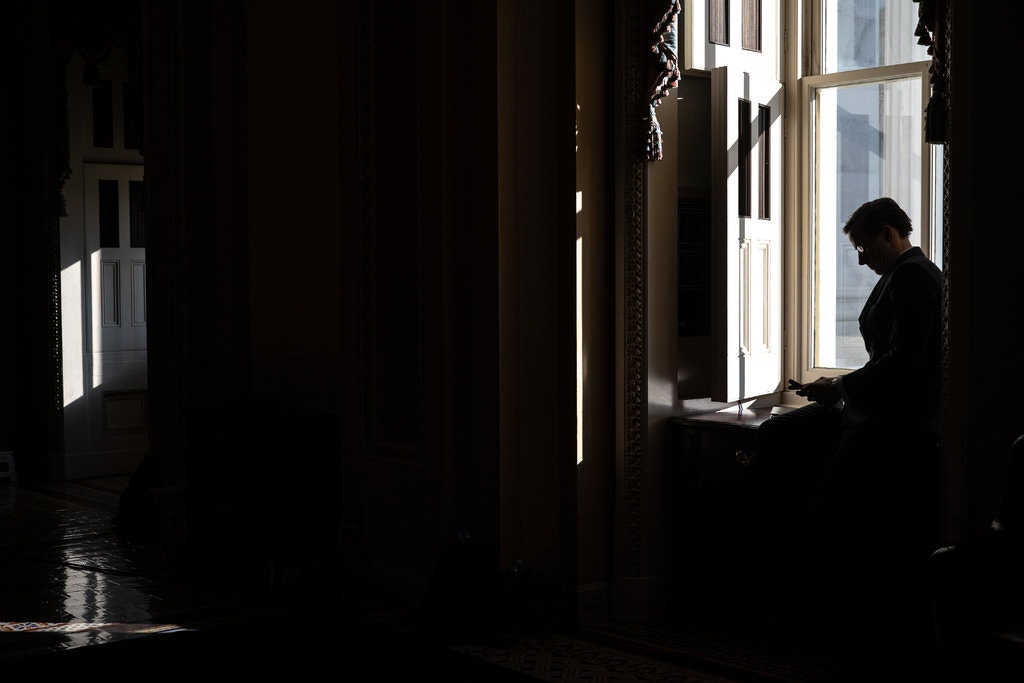 A person using a cellphone in the Capitol last month. The National Security Agency gained access to Americans' cellphone records as part of a counterterrorism system. Credit Erin Schaff/The New York Times.