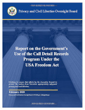 Download the USA Freedom Act - Report on the USA Freedom Act Telephone Call Records Program